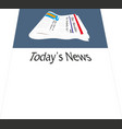 daily newspaper blank content isolated with vector image