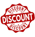discount sign or stamp vector image vector image