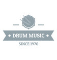 drum music logo simple gray style vector image