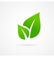 Eco icon green leaf vector image