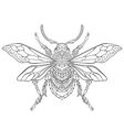entangle stylized cartoon beetle insect vector image vector image