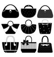 female bag handbag purse fashion woman a set of vector image