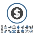 Finance Flat Rounded Icon With Bonus vector image