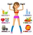 fitness logo design template sport vector image vector image