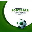 football sports championship green background vector image vector image
