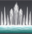 fountain realistic transparent vector image vector image