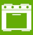 gas stove icon green vector image vector image