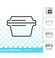 glass casserole simple black line icon vector image