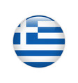 greece flag on button vector image