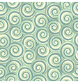 Green abstract seamless pattern with swirls vector image vector image