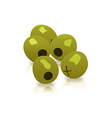 green olives isolated on a white background vector image vector image