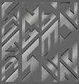 grunge geometric seamless pattern vector image