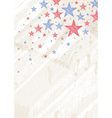grunge usa background with stars vector image vector image