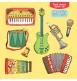 hand drawn musical instrument vector image vector image