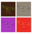 hand drawn wedding ornaments abstract icon set vector image vector image