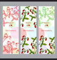 herbal tea collection wild strawberry banner set vector image