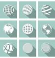 icon globe vector image vector image