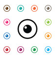 isolated eye icon look element can be used vector image vector image