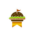 king burger logo design template vector image