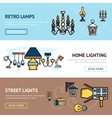 Light Banners Set vector image vector image