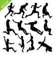 Long jump silhouettes vector image vector image