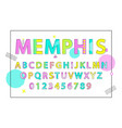 memphis english alphabet vector image