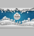 merry christmas and happy new year 2019 and snow b vector image vector image