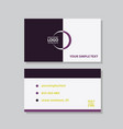 modern creative and clean business card template vector image vector image