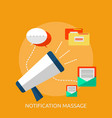 notification massage conceptual design vector image vector image