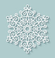 Paper lace doily vector image vector image