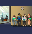 people waiting for job interview vector image