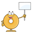 Protesting Donut Cartoon vector image vector image