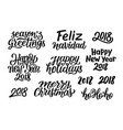 quotes for christmas and new year 2018 decoration vector image vector image