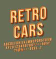 retro cars 3d lettering
