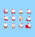 santa character funny cartoon cute santa claus vector image