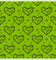 seamless pattern with heart geometry style vector image vector image