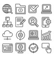 seo and internet icons set on white background vector image vector image