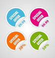 Set colorful circle special offer stickers vector image