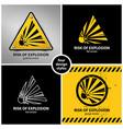 set explosion hazard symbols vector image