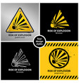 set of explosion hazard symbols vector image