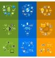 Set of sticker design High-tech business concept vector image vector image
