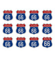 set route 66 badge sign vector image vector image