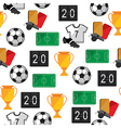 Soccer seamless pattern Brazil summer world game vector image