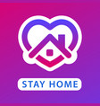 stay home icon vector image vector image