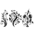 stylized floral tree vector image vector image
