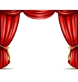 Theater curtain open flat banner vector image vector image