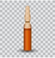 Transparent ampoule with substance vector image vector image