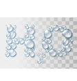 Transparent water drops H2O shape vector image