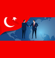 turkey international partnership diplomacy vector image vector image