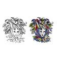 Venetian mask sketch for your design vector image